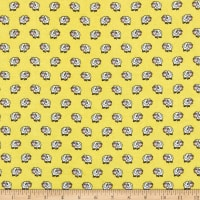3 Wishes Playful Cuties IV Flannel Sheep Yellow
