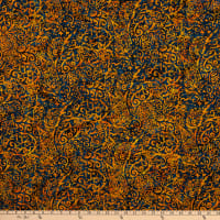 Anthology Batik Jackson Pollock Number 18 Scroll Navy