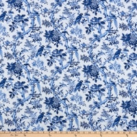 Windham Fabrics Blue Byrd Blue Aviary Porcelain