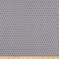 Windham Fabrics Early Bird Chicken Wire Grey