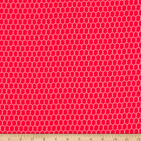 Windham Fabrics Early Bird Chicken Wire Red
