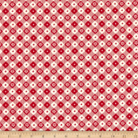 Windham Fabrics Early Bird Vintage Table Cloth Red