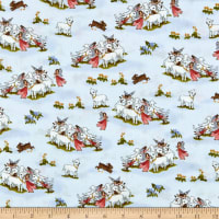 Windham Fabrics Little Bo Peep Lost Sheep Baby Blue