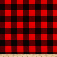 """Windham 108"""" Quilt Back Buffalo Plaid Red"""