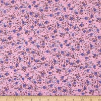Fabric Merchants Bella Twill Prints Blue/Pink Mini Floral