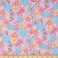 Bella Twill Prints Floral on Pink