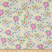 Bella Twill Prints Floral on Soft Yellow