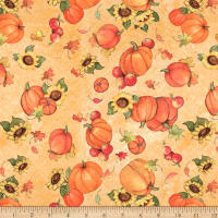 Susan Winget Pumpkin And Sunflower Toss Multi