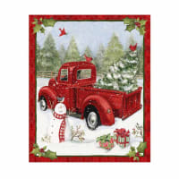 "Susan Winget Christmas Fun 36.5"" Panel Red"