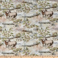 Susan Winget Christmas Mid Winter Scenic Horses Cream