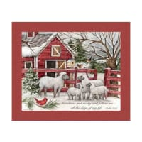 "Susan Winget Christmas Lord Is My Shepherd 36"" Panel Multi"