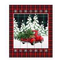 "Springs Creative Christmas Over The River Truck 36"" Panel Multi"