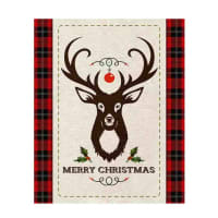 "Springs Creative Christmas Merry Deer 36"" Panel Multi"