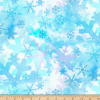 Springs Creative Christmas Blues Snowflakes Blue