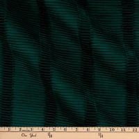 Europatex Landscape Pleated Velvet Emerald
