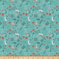 Clothworks Dreaming of Snow Toss Light Teal
