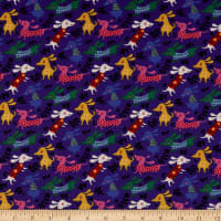 Clothworks Make Today Awesome Toss Dark Royal Blue