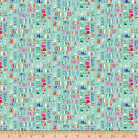 Clothworks Make Today Awesome Collage Turquoise
