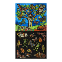 "Clothworks Night Owl 24"" Panel Multi Color"