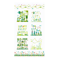 Clothworks You Me and the Trees Panel White