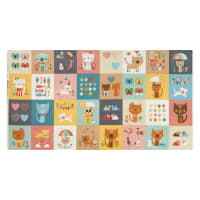 "Andover/Makower UK Cool Cats Cool Cats Blocks 22"" Panel Multi"
