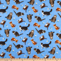 Andover Meow Meadow Cats Blue