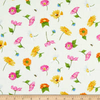Andover Meow Meadow Flowers White