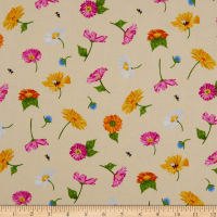 Andover Meow Meadow Flowers Yellow