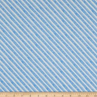Andover Meow Meadow Candy Stripe Blue