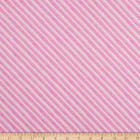 Andover Meow Meadow Candy Stripe Pink