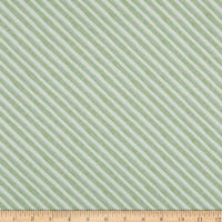 Andover Meow Meadow Candy Stripe Green