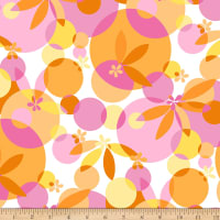 Maywood Studio Good Vibrations Bubbles & Blossoms Pink/Orange