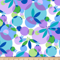 Maywood Studio Good Vibrations Bubbles & Blossoms Purple/Blue