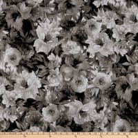 Maywood Studio Nocturne Luscious Flowers Black/White