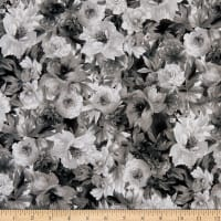 Maywood Studio Nocturne Flower Bed Black/White