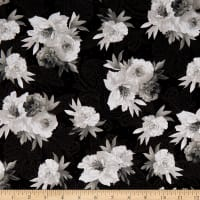Maywood Studio Nocturne Flowers on Paisley Black