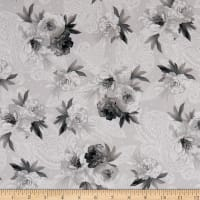 Maywood Studio Nocturne Flowers on Paisley Grey