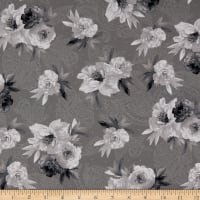 Maywood Studio Nocturne Flowers on Paisley Dark Grey