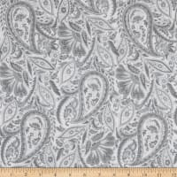 Maywood Studio Nocturne Paisley Ultra White/Gray