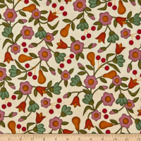 Maywood Studio Home Sweet Home Flannel Tossed Flowers Natural