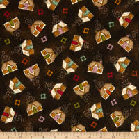 Maywood Studio Home Sweet Home Flannel Houses Espresso Bean