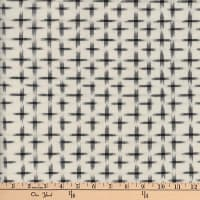 Textile Creations Dakota Double Ikat Star Cream/Black