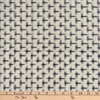 Textile Creations Dakota Double Ikat Star Cream/Navy