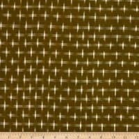 Textile Creations Dakota Double Ikat Stars Cream/Khaki