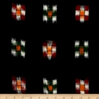 Textile Creations Dakota Double Ikat Checkerboard Black/Multi
