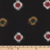 Textile Creations Dakota Double Ikat Black/Multi