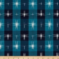 Textile Creations Dakota Double Ikat Plaid Blue