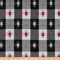 Textile Creations Dakota Double Ikat Plaid Black/Red