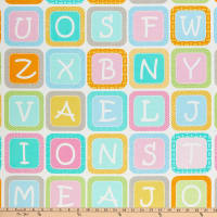 "Contempo My Little Sunshine 2 Alphabet Blocks Large 24"" Panel Multi"