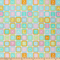 "Contempo My Little Sunshine 2 Alphabet Blocks Small 24"" Panel Multi"